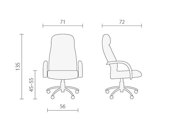 Белое кресло руководителя LK 12