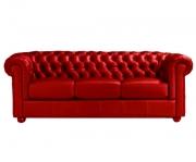 Диван Честер люкс 3 красный